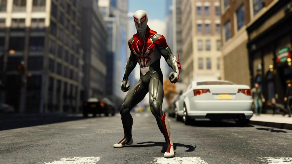 Spiderman 2099 White
