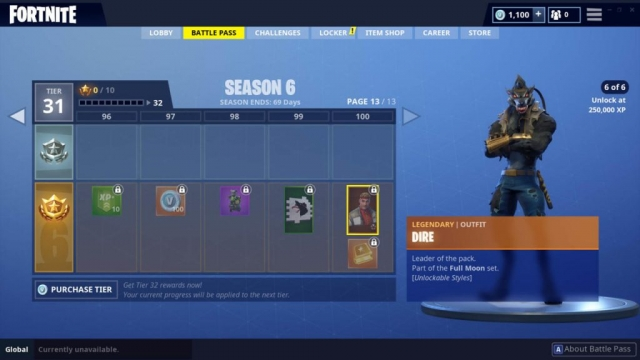 Dire Outfit (Legendary)